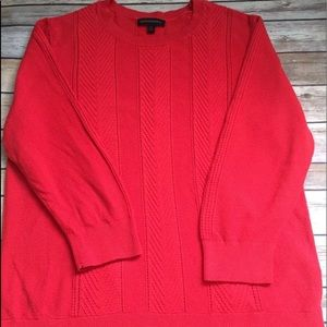 BANANA REPUBLIC orange red cable knit sweater XL